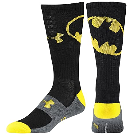 Under Armour Hombres de Super Hero Big Logo Crew Calcetines Grandes Batman