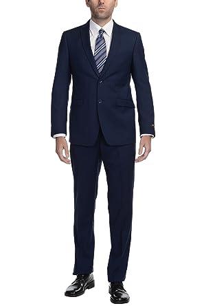 P&L Men's Slim Fit Spring/Summer 2-Piece Suit Jacket Flat Front ...