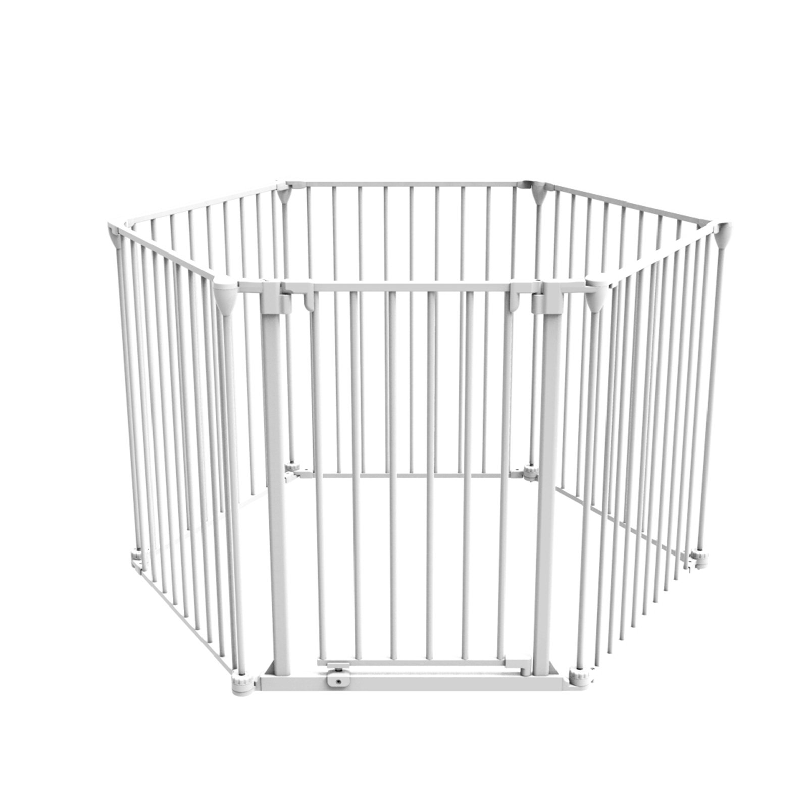 3 in 1 Playpen Barrier 6 Panel, White, Large