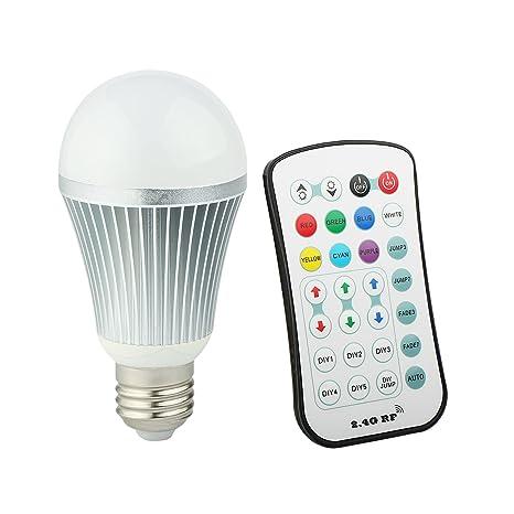Cambia de Color bombilla, brihome RGBW bombilla LED E26 con 2,4 G inalámbrico