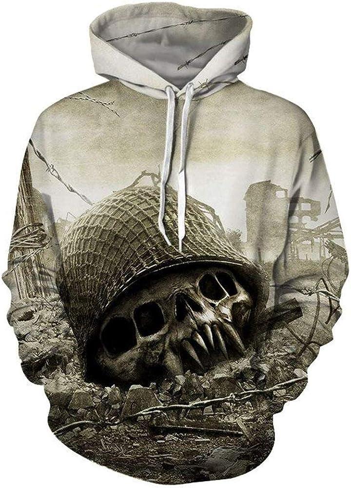 Skull Head Hoodies 3D Men Hoodies Sudaderas con Capucha de Manga ...