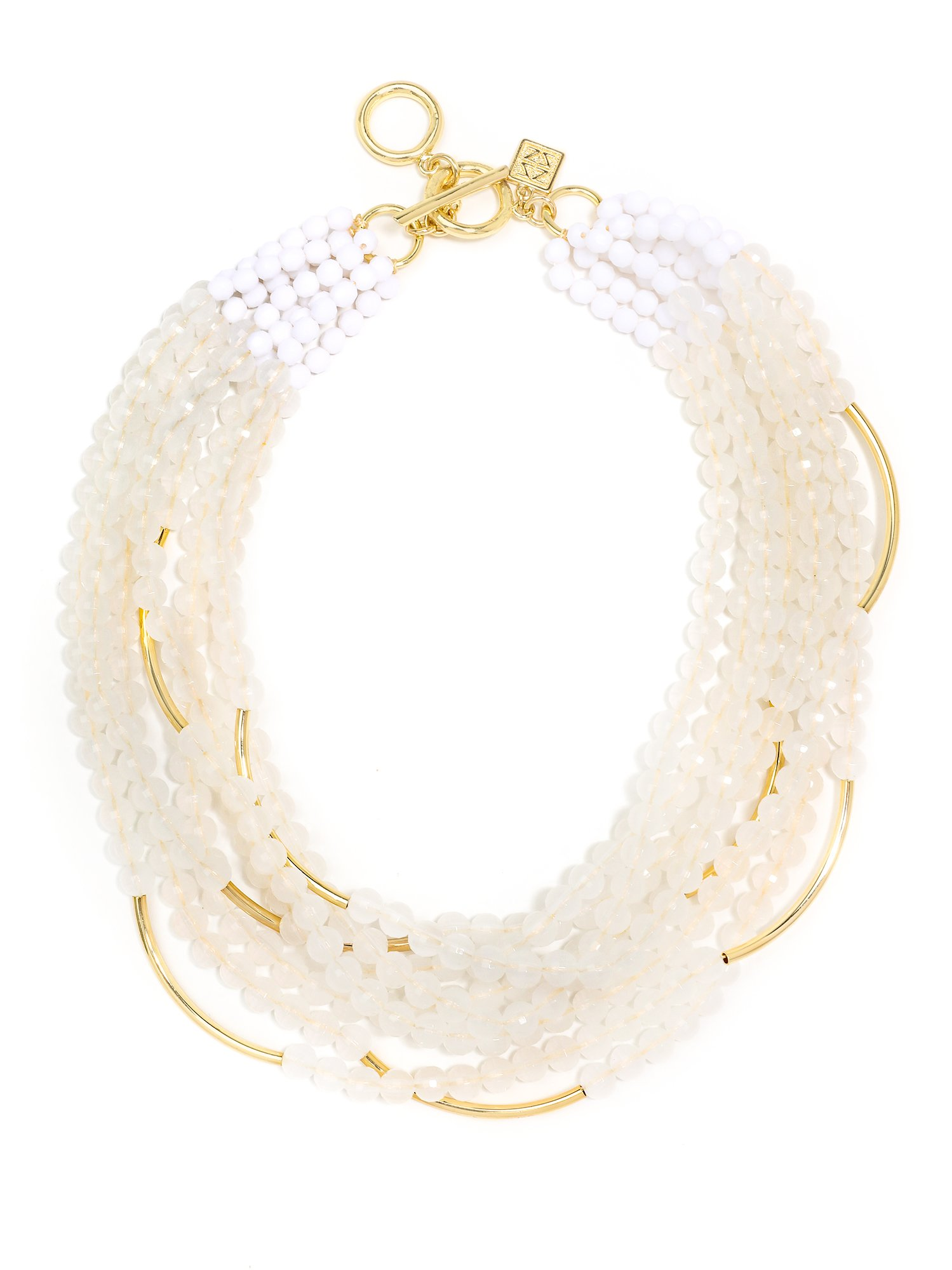 ZENZII Catch The Wave Beaded Necklace (White)