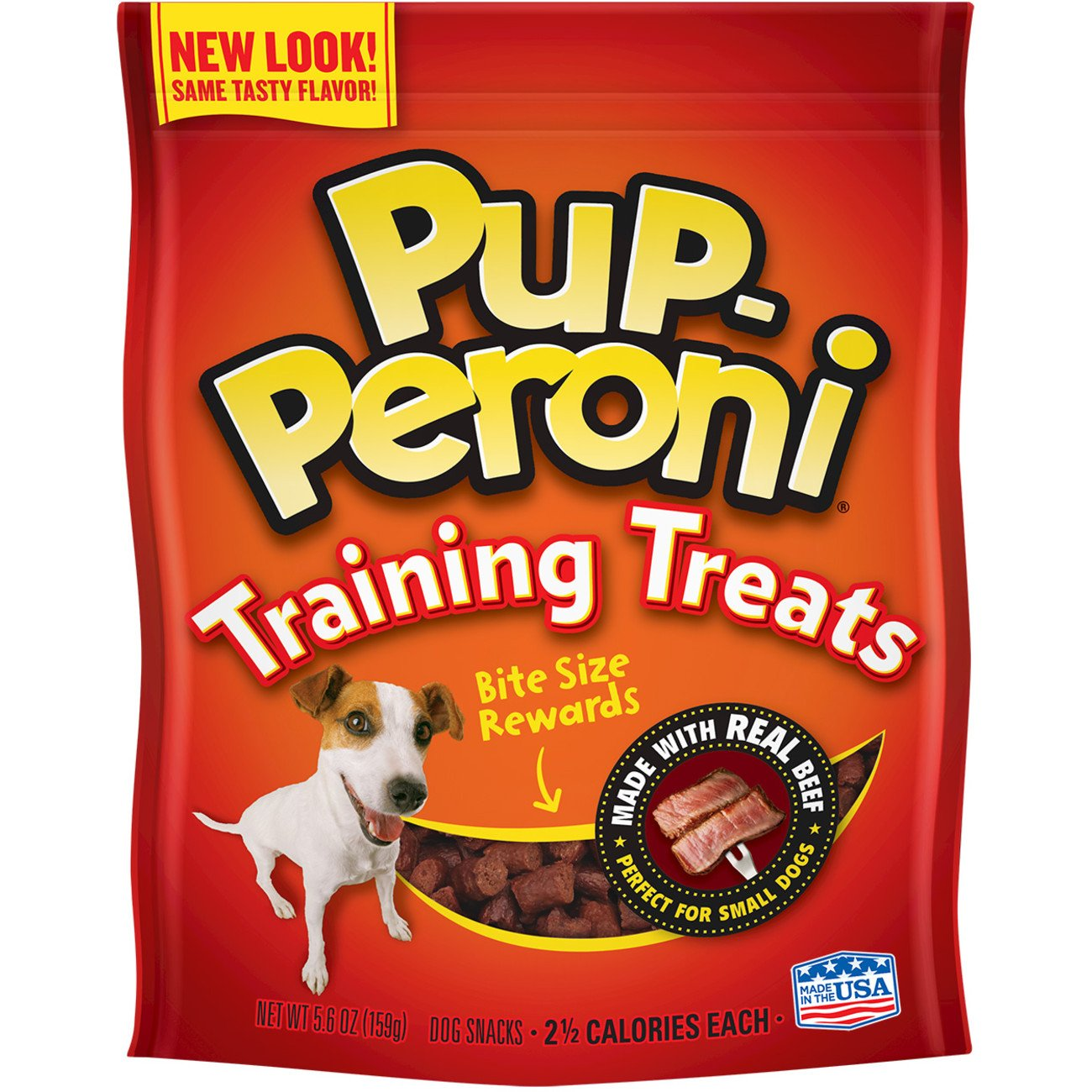 Pup-Peroni Original Training Treats – Beef Flavor Dog Snacks, 5.6-Ounce Pack of 8