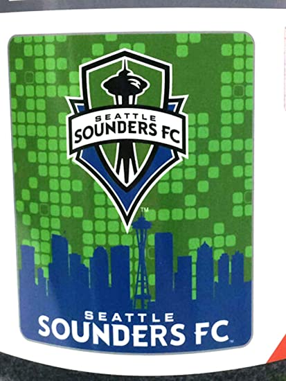 Rico Industries Seattle Sounders FC Large Lightweight 50x60 Super Soft Fleece Throw Blanket Football Club MLS Soccer Inc