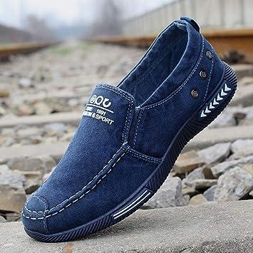 YAN Calzado Calzado de Lona para Hombre en Mocasines Casuales Bombas Zapatos de Cubierta Zapatillas de Lona Zapatillas Casual/Diario Zapatos/Conducción ...