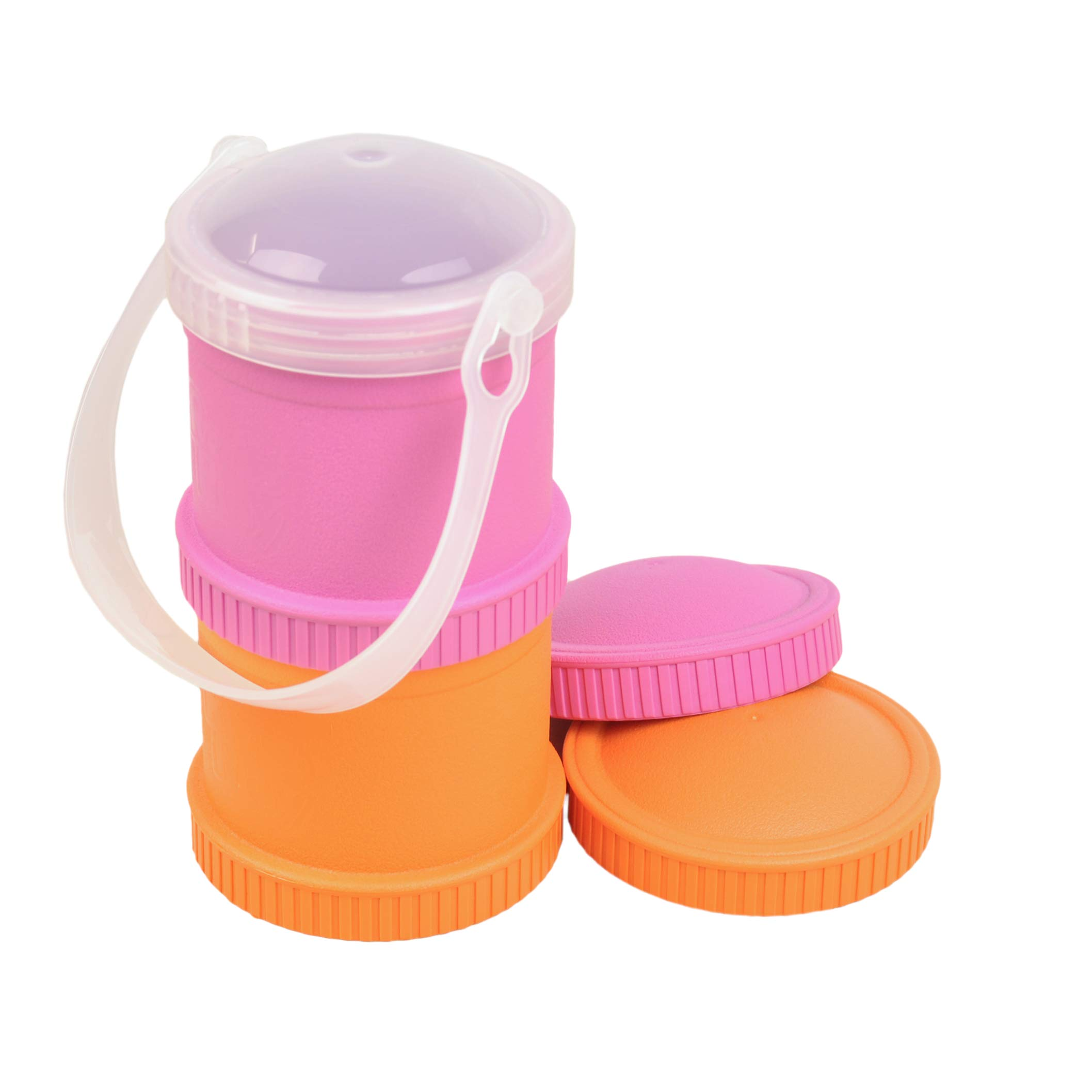 Re-play Snack Stack Cup 2pk With 1 Lid Food Container Bpa Free Recycled Plastics Feeding Baby