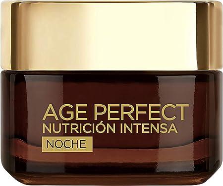 L'Oréal Paris Age Perfect Nutrición Intensa - Crema Rica Reparadora de Noche para Pieles Maduras y Desnutridas - 50 ml