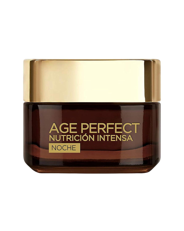 L'Oreal Paris Age Perfect Nutrición Intensa Crema Rica Reparadora Noche Pieles Maduras y Desnutridas - 50 ml