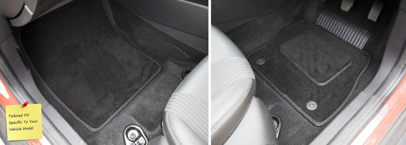 Black with Black Trim Connected Essentials CEM550 Car Mat Set for Sorento 2003-2009 5mm Rubber