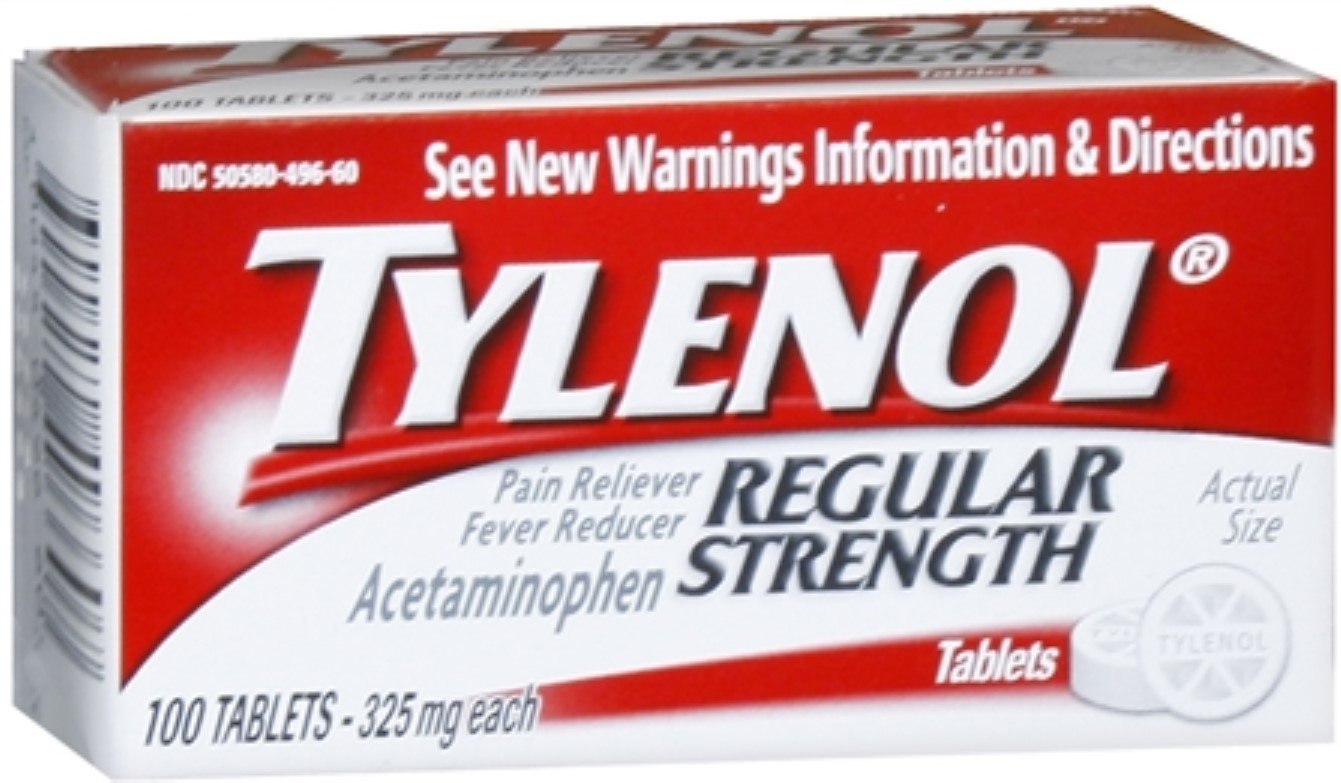 TYLENOL Regular Strength Tablets 100 Tablets (Pack of 7) by Tylenol