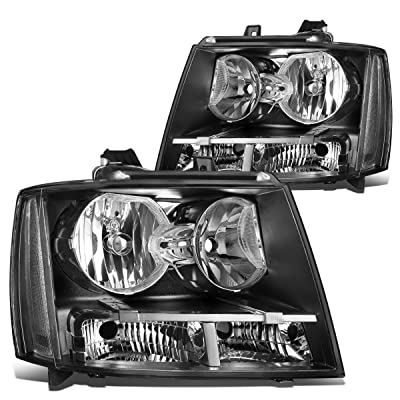 DNA MOTORING HL-OH-CSA07-BK-CL1 Black Housing/Clear Corner Headlight Assembly (Driver & Passenger Side): Automotive