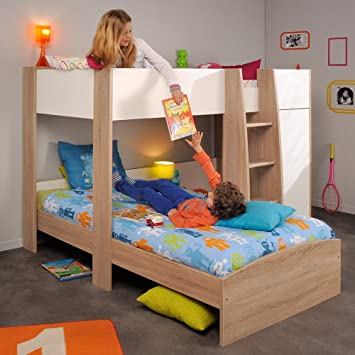 Parisot Magellan L Shaped Kids Bunk Bed Amazon Co Uk Kitchen Home