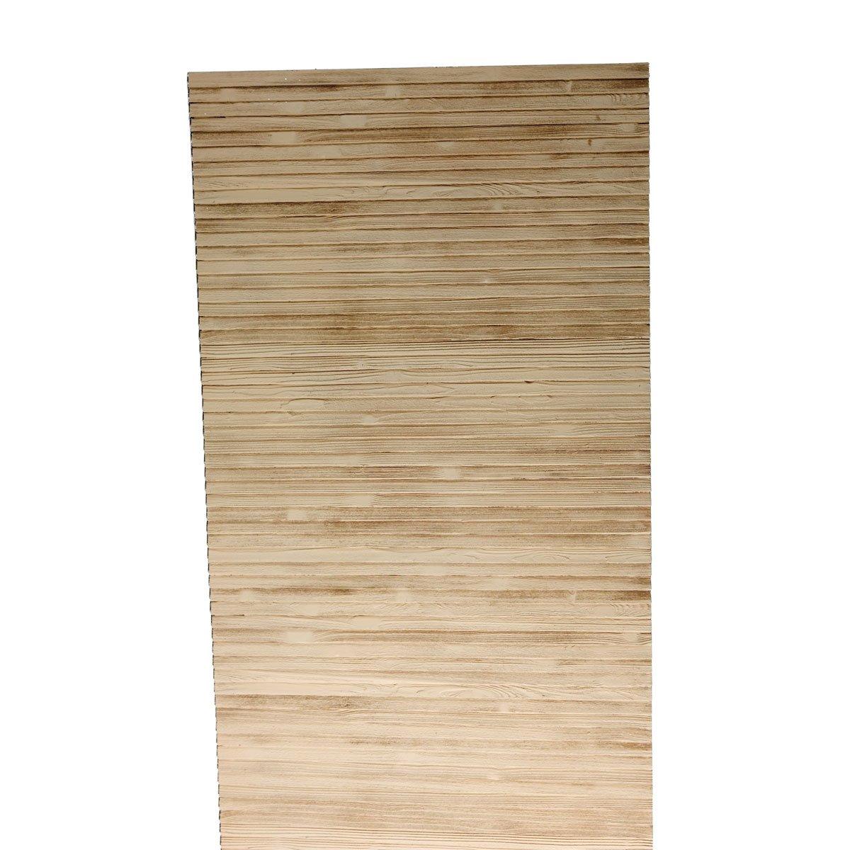 32''W x 144''H x 21/32''P Louvered Panel, Woodgrain Texture, Urethane (Per Pair)