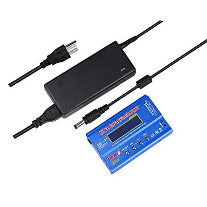 HOBBYMATE Imax B6 Clone Lipo Battery Balance Charger, Rc Hobby Battery Balance Charger LED W/ AC Power Adapter