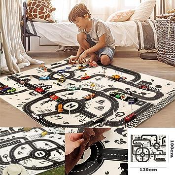 Verkehrsstraße Spielmatte Spielen Auto Spielzeug /& Spaß Spielzimmer Baby