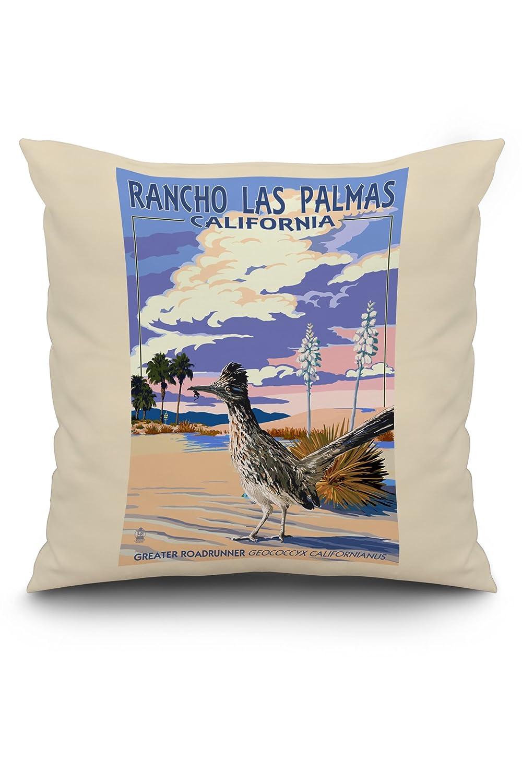 Rancho Las Palmas, California - Roadrunner Scene (18x18 Spun ...