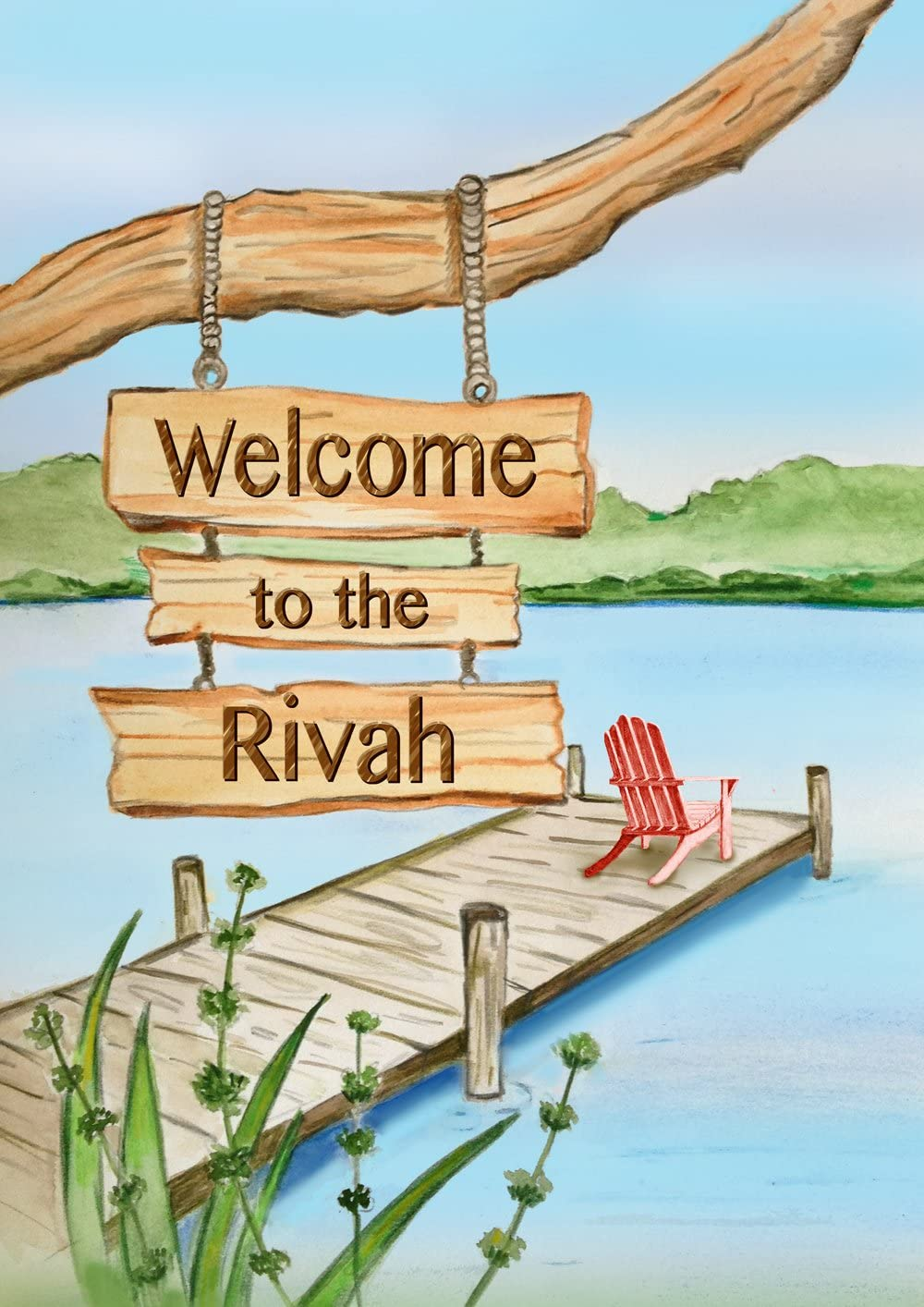 Toland Home Garden Welcome To The Rivah 28 x 40 Inch Decorative Funny Summer River Adirondack Vacation House Flag
