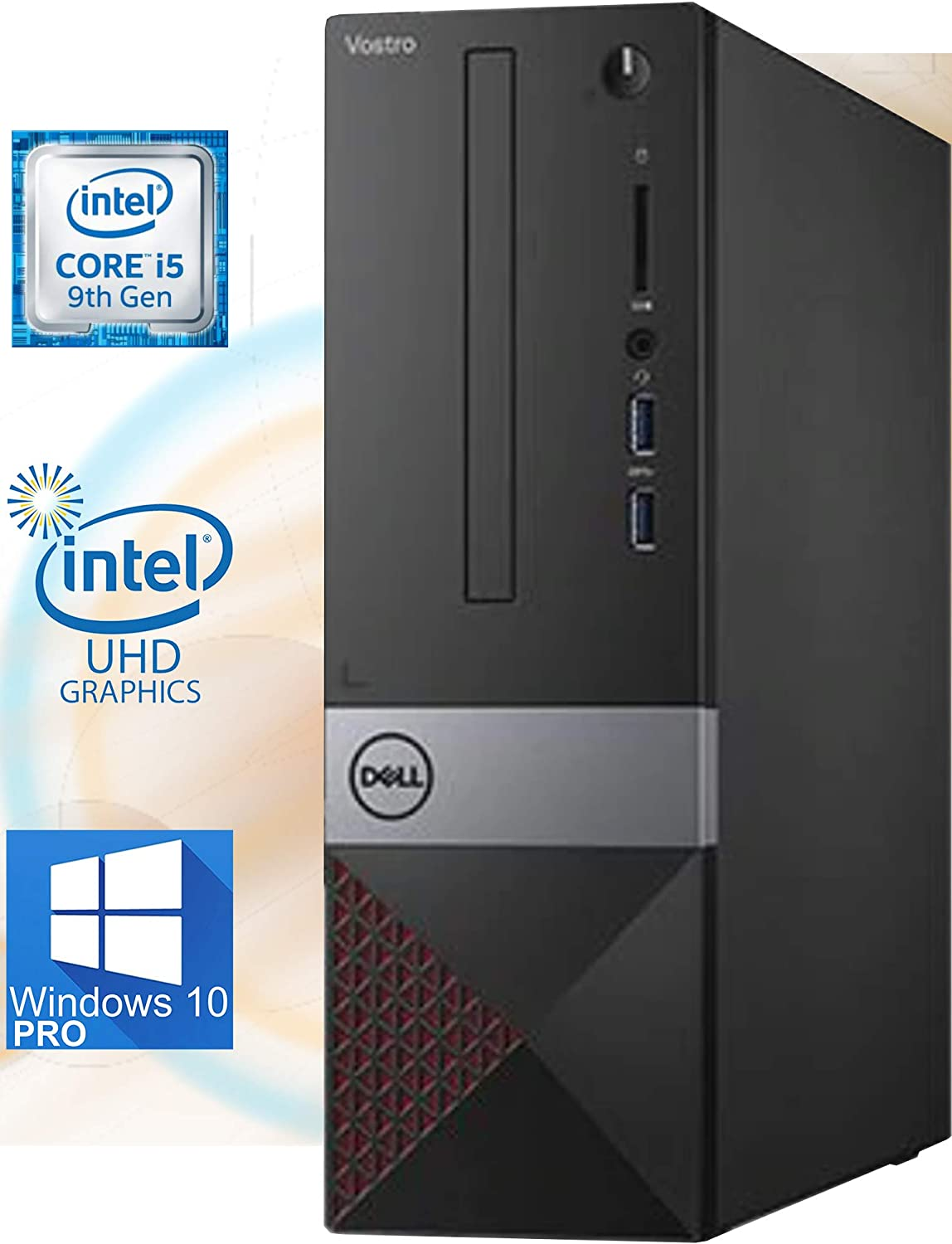 Dell Vostro 3471 Small Form Factor Desktop with Intel Core i5-9400 Upto 4.1GHz, Intel UHD Graphics 630 4K Support, 8GB RAM, 256GB M.2 NVMe SSD, HDMI, Wi-Fi, Bluetooth - Windows 10 Pro