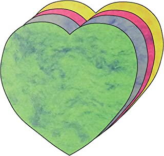"""product image for 5.5"""" Heart Marble Assorted Color Creative Cut-Outs, 31 Cut-Outs in a Pack for Kids' Love and Peace School Craft Projects, Valentine's Day Craft."""