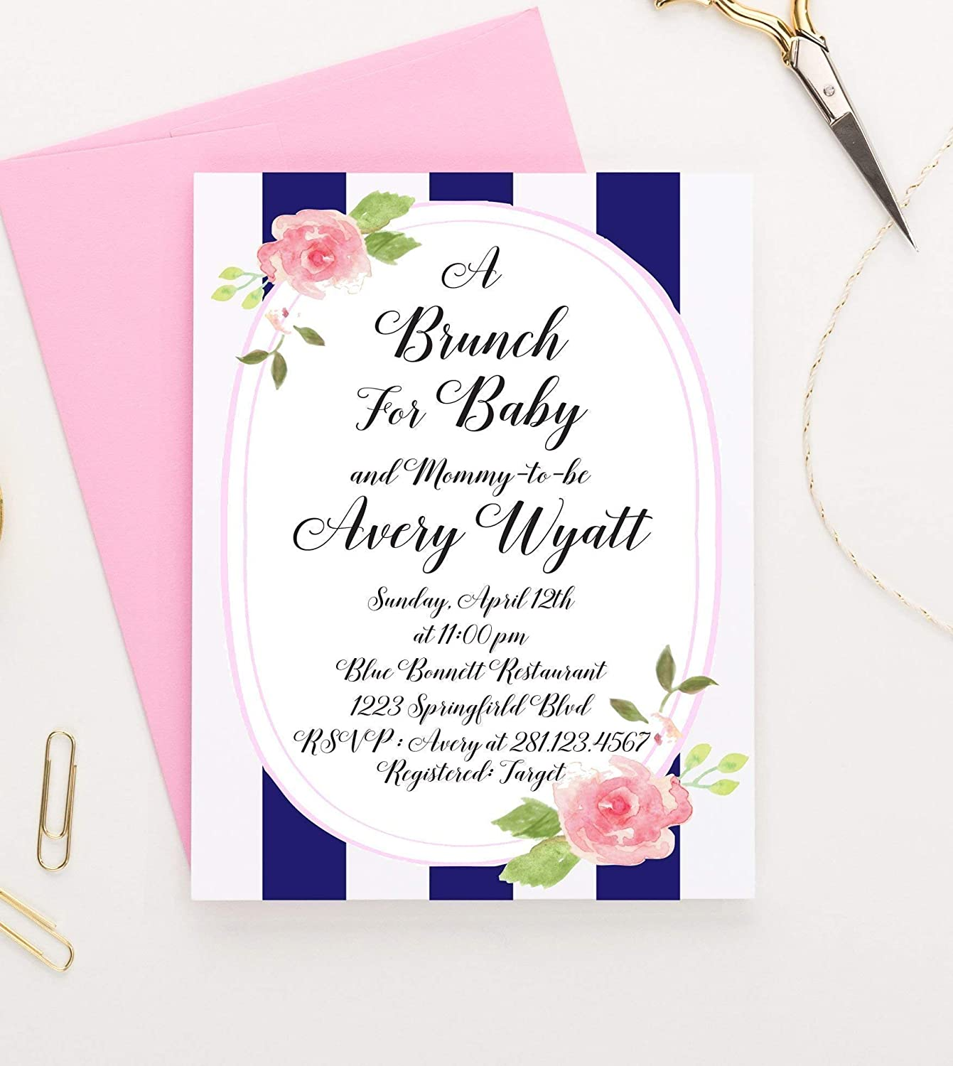 Brunch for Baby Invitations, Floral Baby Shower Invitations, Rustic Baby  Shower Invitations, Floral Baby Shower Invites, Rustic Baby Shower Invites,  ...