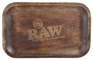 Bandeja Raw Madera Decorada 27 X 17 Cm Amazones Hogar