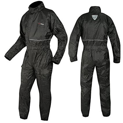 A-pro – Traje de lluvia para moto, mono impermeable, negro, talla ...