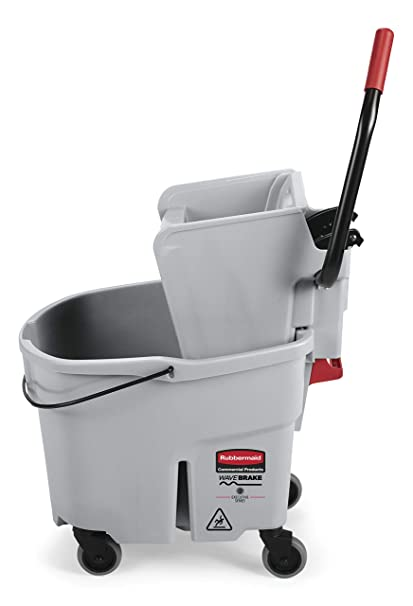 Amazon.com: Rubbermaid Commercial WaveBrake Mopping System Bucket and Side-Press Wringer Combo, 35-quart, Gray (1863897): Industrial & Scientific