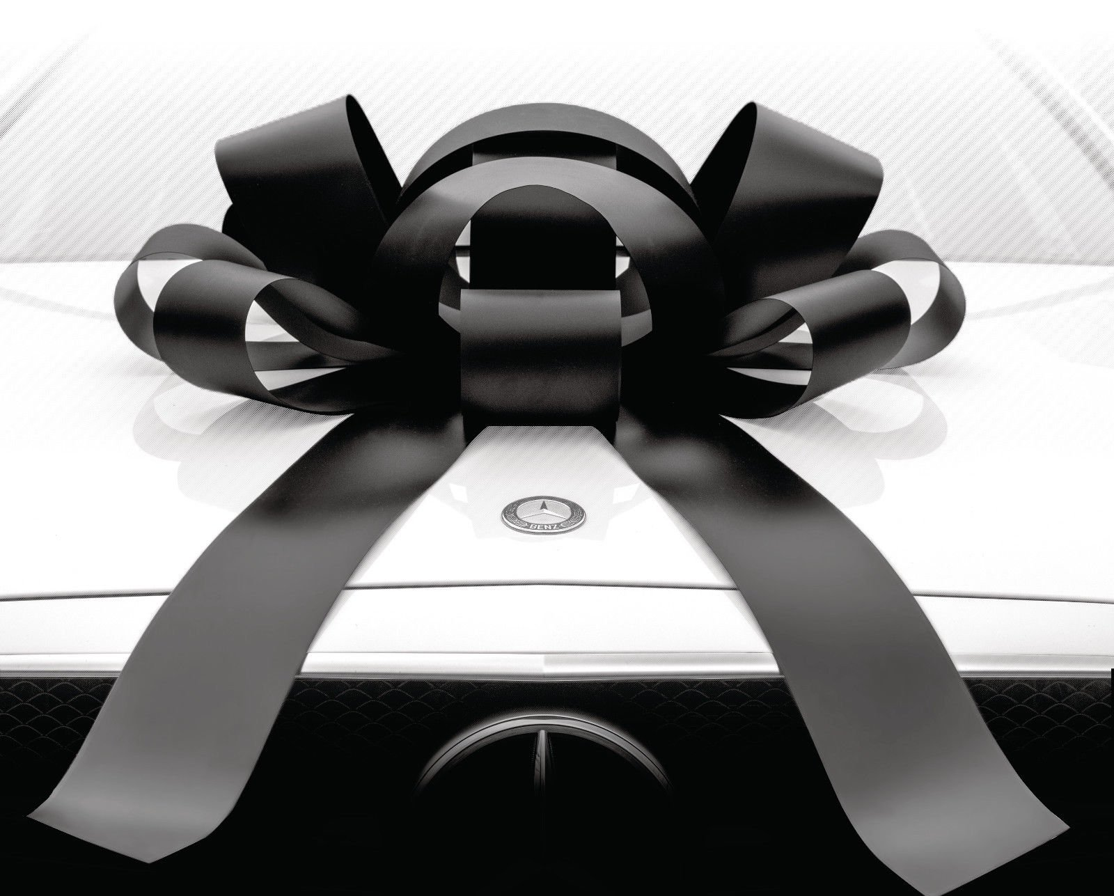 Eight24hours Big Car Bow Magnetic Back Vinyl No Scratch Large Gift Bow - Black