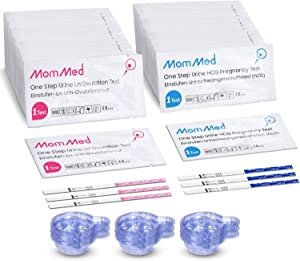 Ovulation and Pregnancy Test Strips (HCG20-LH60), Includes 20 Pregnancy Tests, 60 Ovulation Test Strips, 80 Urine Cups, Easy to Use Ovulation Predictor Kit, High Accurate Fertility Test for Women