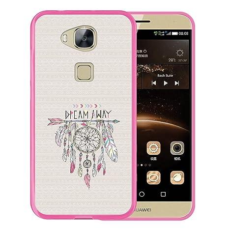 WoowCase Funda Huawei GX8 / G8, [Huawei GX8 / G8 ] Funda Silicona Gel Flexible Atrapasueños, Carcasa Case TPU Silicona - Rosa