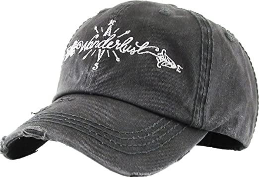 cf6059ea931cc Junk Gypsy Wanderlust Ladies Vintage Trucker Hat Adjustable Baseball Cap  (Adjustable