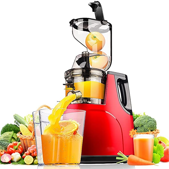 QARYYQ Juice Residue Separation Large Diameter Juicer Home Automatic Fruit And Vegetable Multi-function Juice Machine Juice Machine Soya-bean Milk Machine Juicer