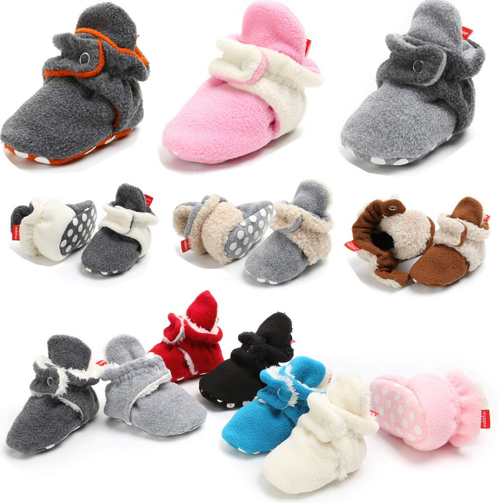 Panga Winter Booties Socks Unisex Baby Soft Sole Non-Slip Fleece Toddler First Walkers Crib Slippers Shoes
