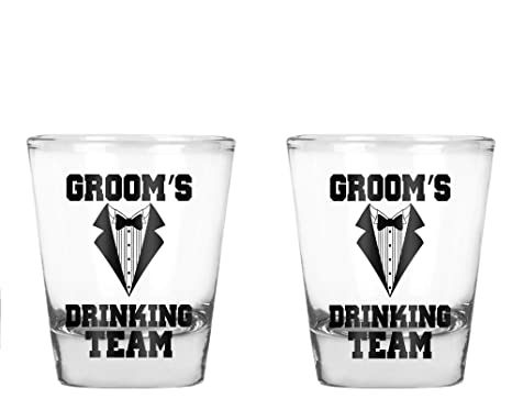 Wedding Shot Glasses.Wedding Shot Glasses Bride And Groom Groom Drinking Team Wedding 2 Oz Bachelor Party Favors Groom Team