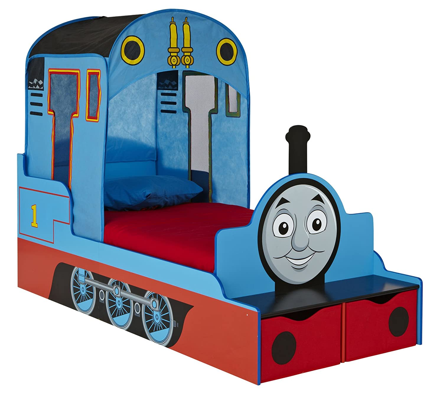 Thomas the Tank Engine Kids Toddler Bed with Underbed Storage HelloHome Worlds Apart 452THM