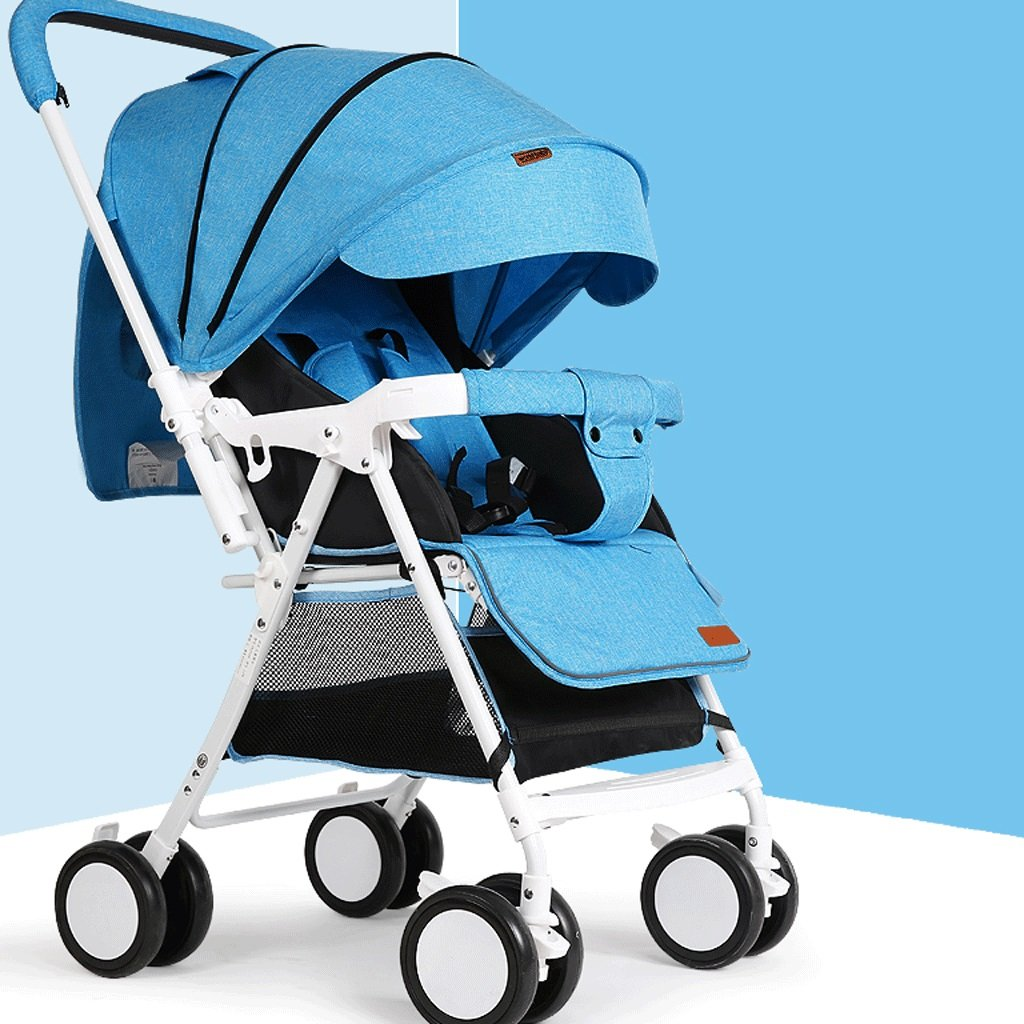 Baby Stroller Can Sit And Lie Down Light Portable Folding Umbrella Child Simple Baby Hand Push Stroller (Color : J)
