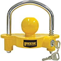 REESE Towpower 72783 Universal Coupler Lock (Yellow and Chrome)