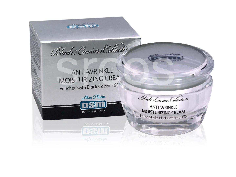 Mon Platin DSM Black Caviar Anti-Wrinkle Moisturizing Cream SPF 15 50ml 1.76fl.oz Dead Sea