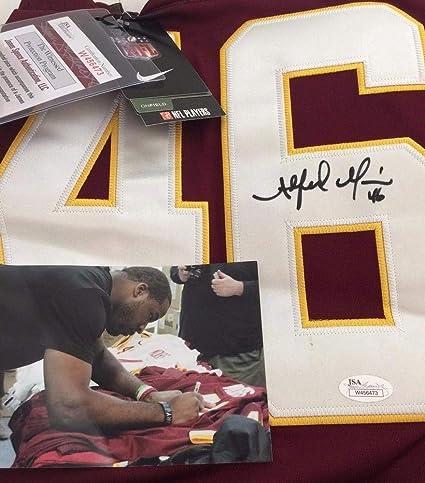 6a79ac06aa3 Alfred Morris Signed Washington Redskins Football Jersey - JSA Certified  Signed