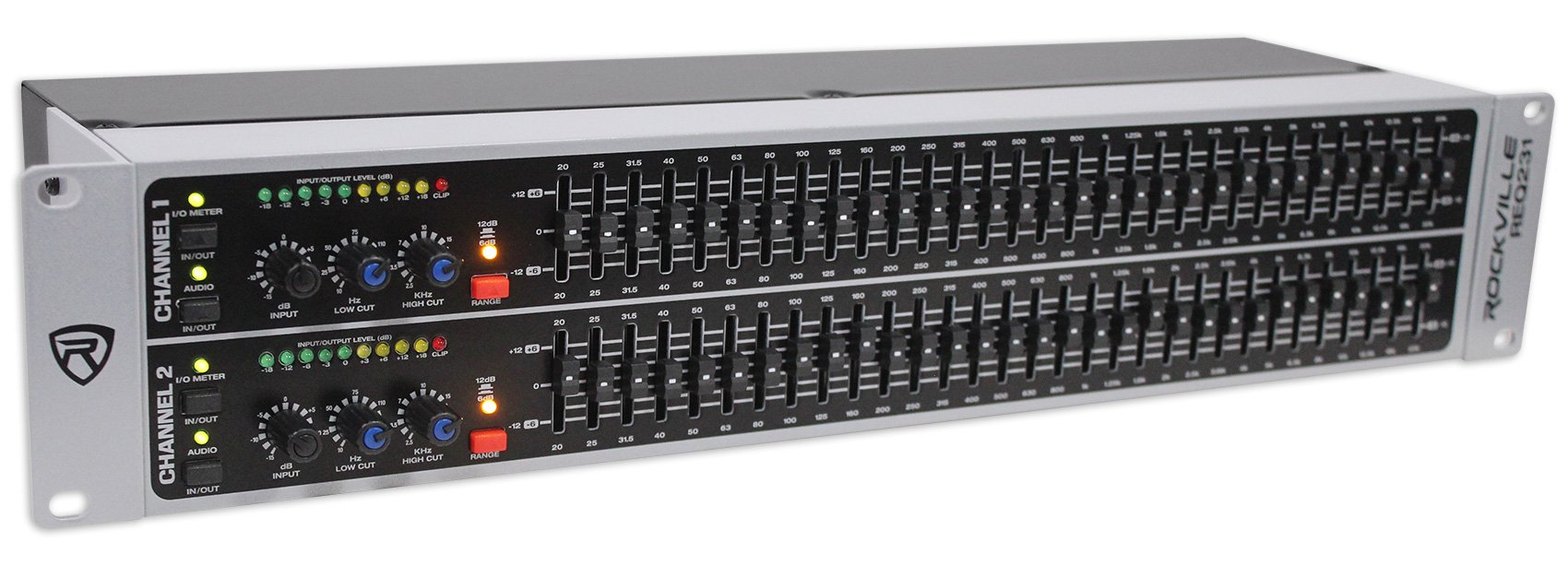 Rockville REQ231 Dual 31 Band Home Theater Graphic Equalizer EQ w/Sub-Output by Rockville