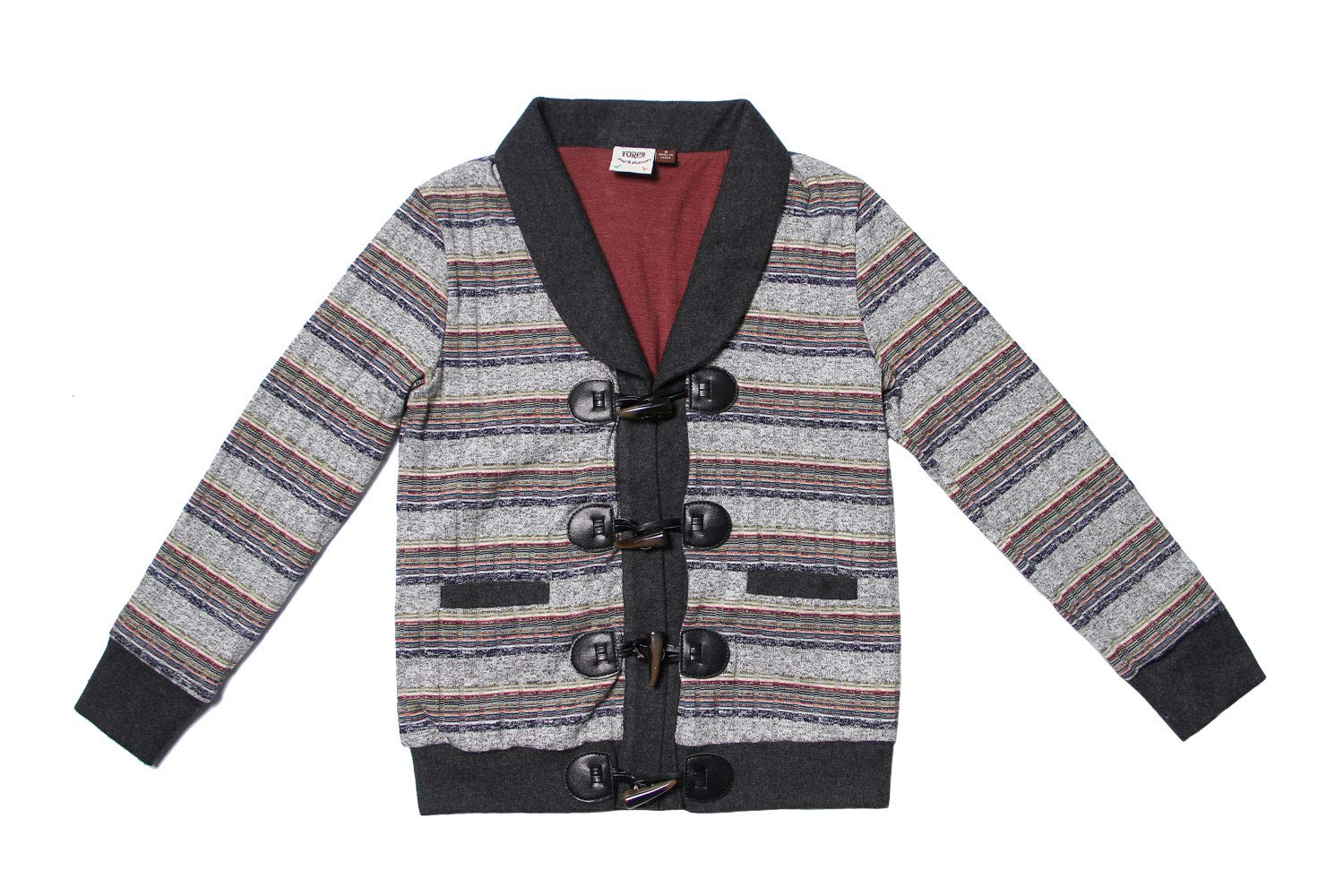 Fore!! Axel & Hudson Boy Jacket Multi-Stripe Sweater Knit Cardigan (10)