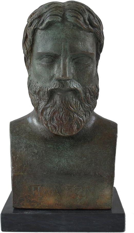 Platonas Plato Bust with bronze color effect Greek Philosopher student of Socrates
