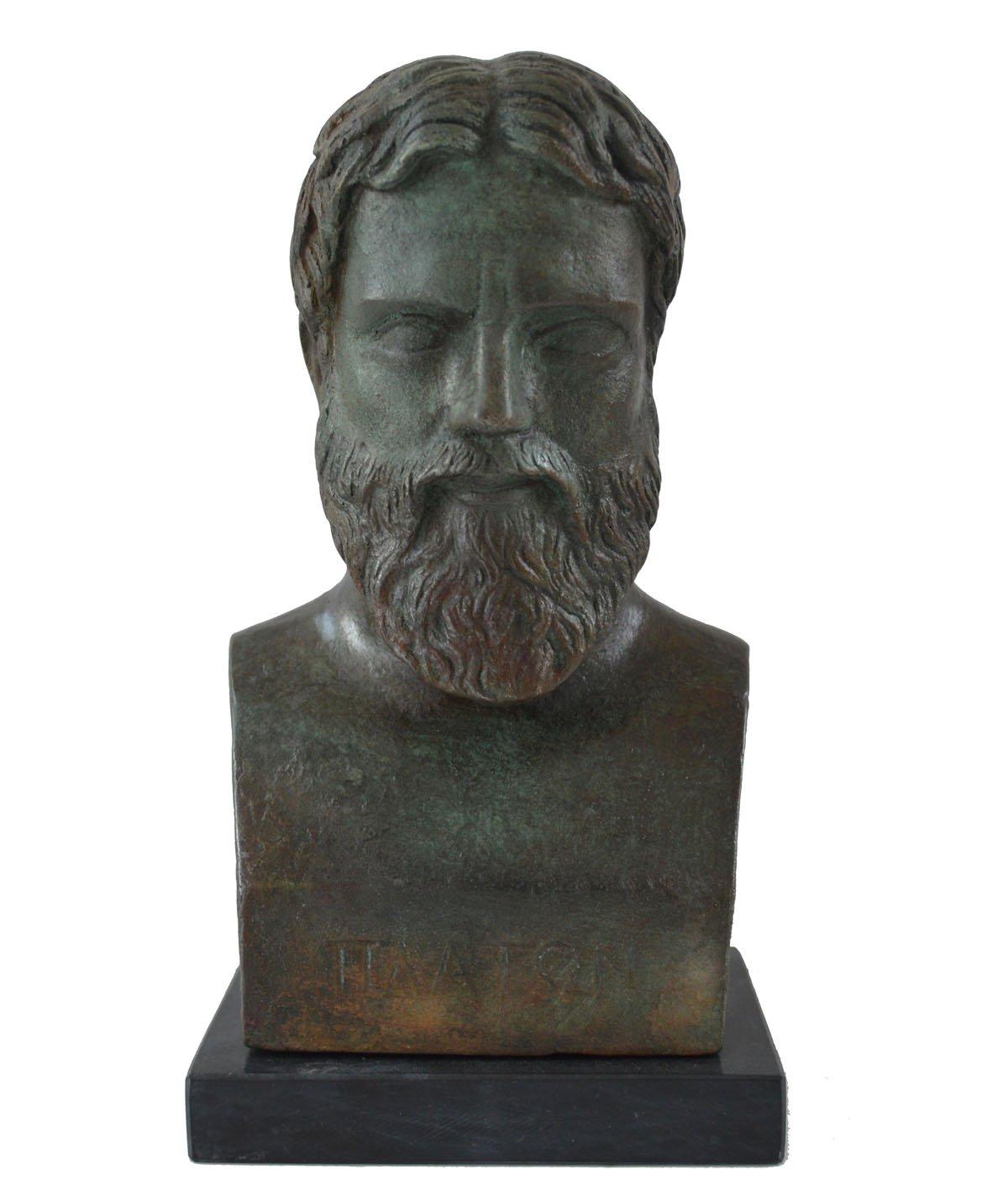 Plato Bust with bronze color effect - Greek Philosopher student of Socrates - Platonas