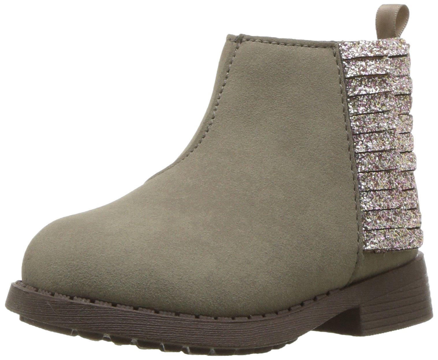 OshKosh B'Gosh Girls' Alice Fringe Ankle Boot, Taupe, 12 M US Little Kid
