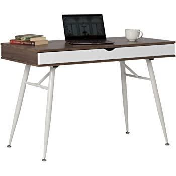 modern desk with storage oversized calico designs 51253 alcove modern desk with large split drawer storage whitechestnut amazoncom 51250 nook multi soft
