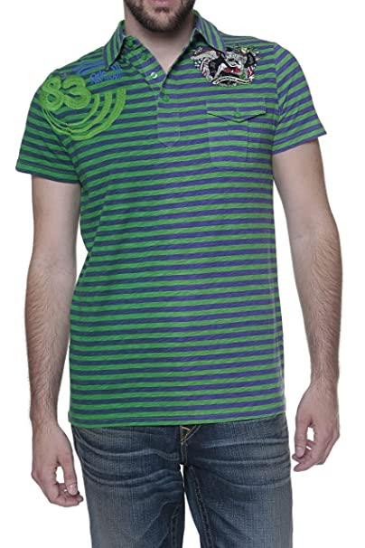 Custo Barcelona Polo Number 83, Color: Verde, Tamaño: XS: Amazon ...