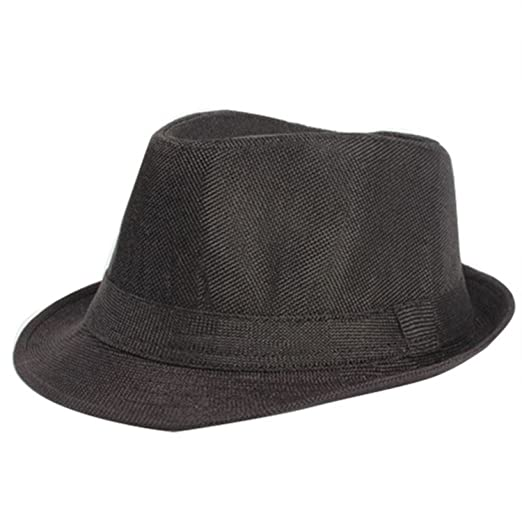 41562682850cc Amazon.com  nboba Summer Women Men Wide Brim Sun Hats Unisex Fedora Panama  Trilby Straw Hat Sun Beach Cap Travel Sunhat Black Ribbon  Clothing