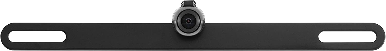 Black BOYO VTL16 Concealed License Plate Backup Camera with Parking Lines