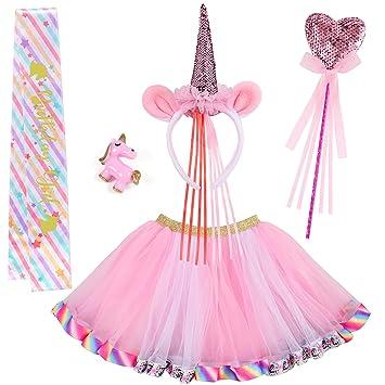 VAMEI 4 Piezas Disfraz de Unicornio para niños Unicornio ...