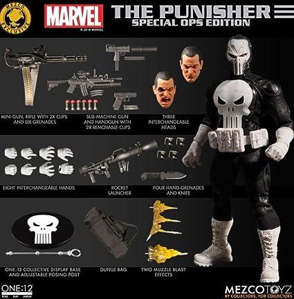 Mezco Netflix Punisher One:12 1:12 figura de acción colectiva